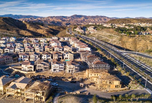 hilly residential development