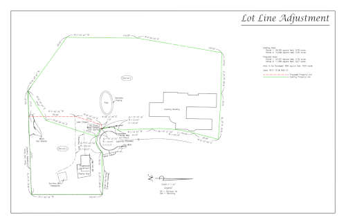 Example lot line adjustment preview
