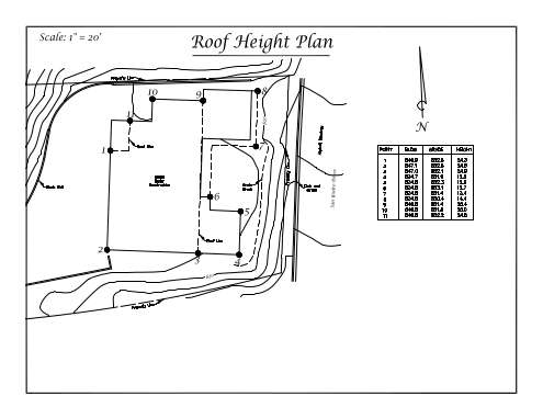 Sample roof height plan preview